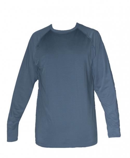 חולצה ארוכה מנדפת אפור